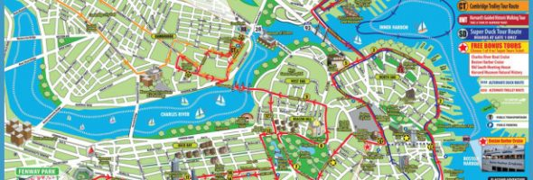 printable tourist map boston Archives – Tourist Attractions Map In Boston