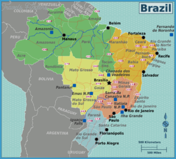 Recife Map Tourist Attractions TravelsFindersCom