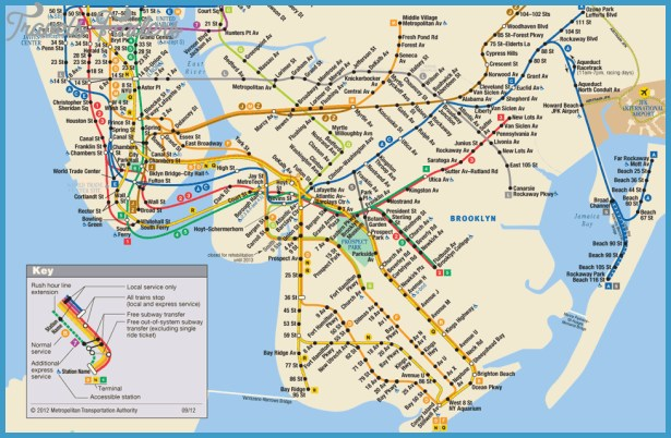 SUBWAY MAP NEW YORK – Map Of World