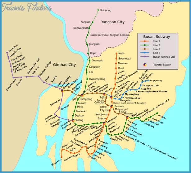 Busan Subway Map 2017.Korea South Subway Map Travelsfinders Com