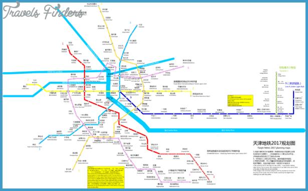 Tianjin Subway Map.Tianjin Metro Map Travelsfinders Com