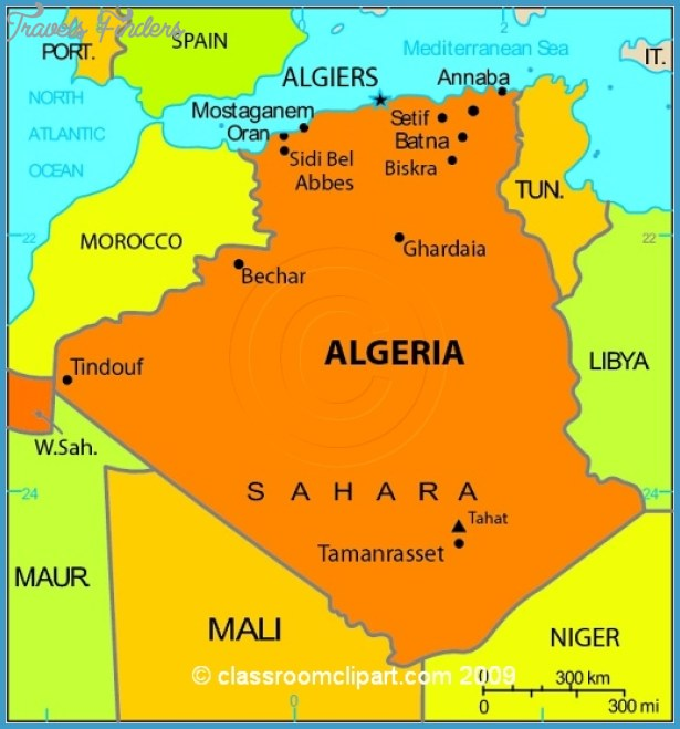 Algeria Map Travel Map Vacations TravelsFindersCom - Algeria map