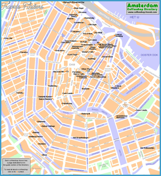 ... best guide - Amsterdam top tourist attractions map - High resolution
