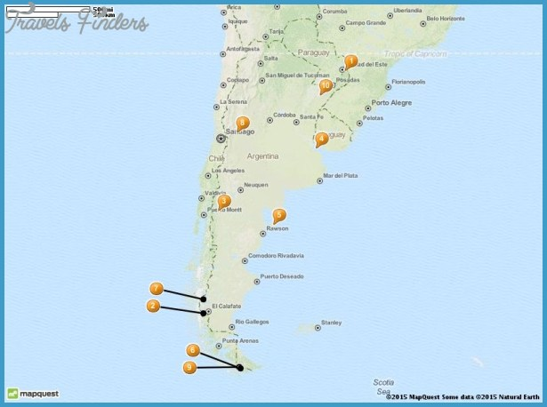 Argentina Map Tourist Attractions – Tourist Map of Argentina