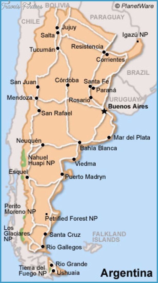Argentina Map Tourist Attractions – Tourist Attractions Map In Argentina