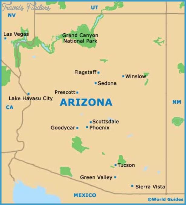 PhoenixMesa Map Tourist Attractions – Arizona Tourist Attractions Map