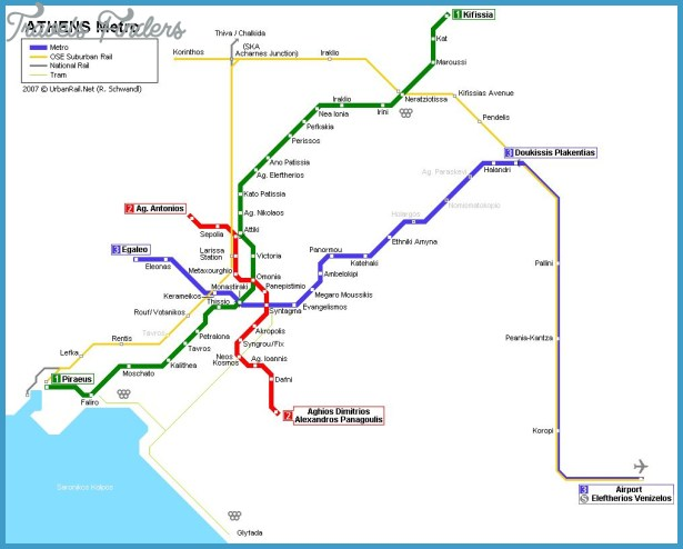 Subway Map Athens Greece.Athens Subway Map Travelsfinders Com