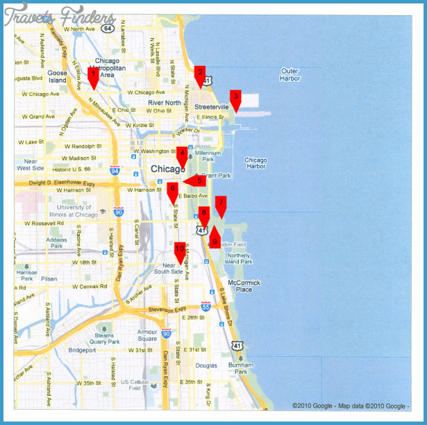 Chicago Map Tourist Attractions – Downtown Chicago Tourist Map