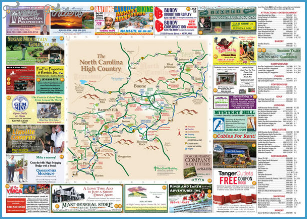 LocationView Map click for Fullsize Avery County Attractions Map