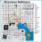 baltimore tourist map map of food hotels and major attractions