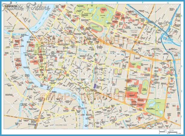 ... Bangkok , Train map Bangkok , Attractions, Hotels, City Layout, Subway