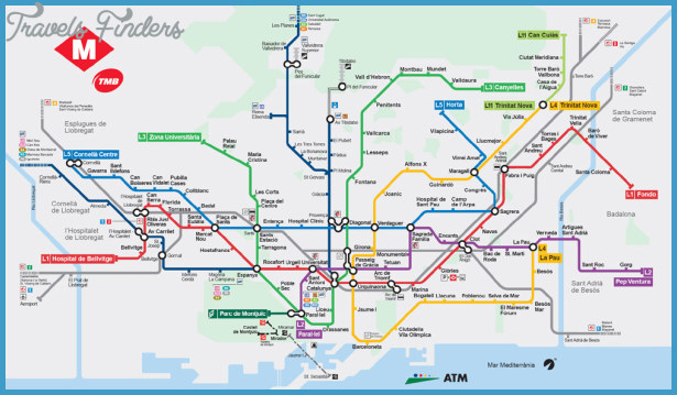 Subway Map Of Barcelona Spain.Spain Metro Map Travelsfinders Com