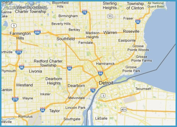 Map of Metro Detroit | Detroit Travel | Detroit Attractions, Where to