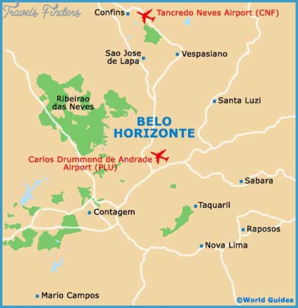 Belo Horizonte Map Tourist Attractions TravelsFindersCom