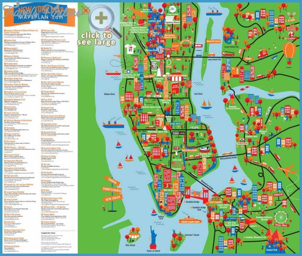 ... interactive and colorful map - New York top tourist attractions map