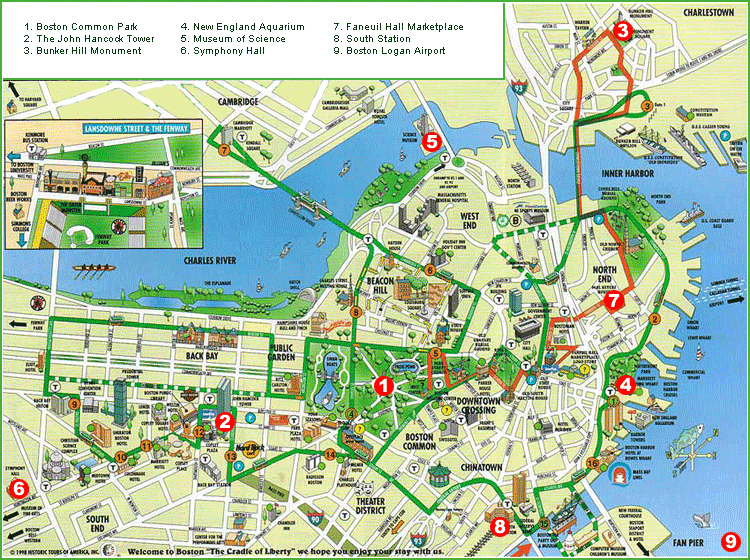 Boston Map Tourist Attractions – Baltimore Tourist Map