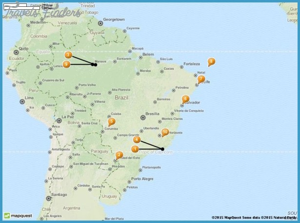 Brazil Map Tourist Attractions – Brazil Tourist Attractions Map