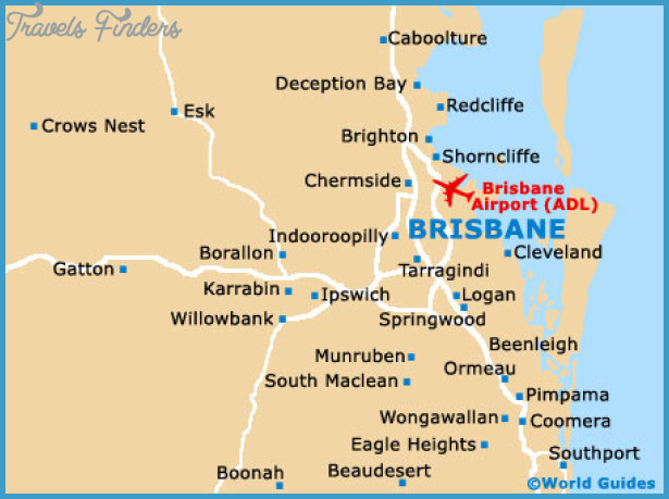 Maps of Brisbane, Brisbane University (University of Queensland): Map ...
