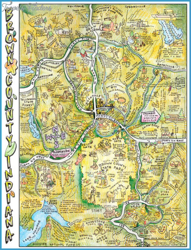Brown County Tennessee Tourist Map - Brown County Nashville
