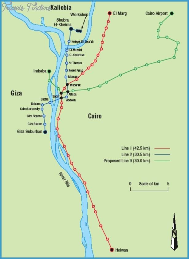 Cairo Subway Map - TravelsFinders.Com ®