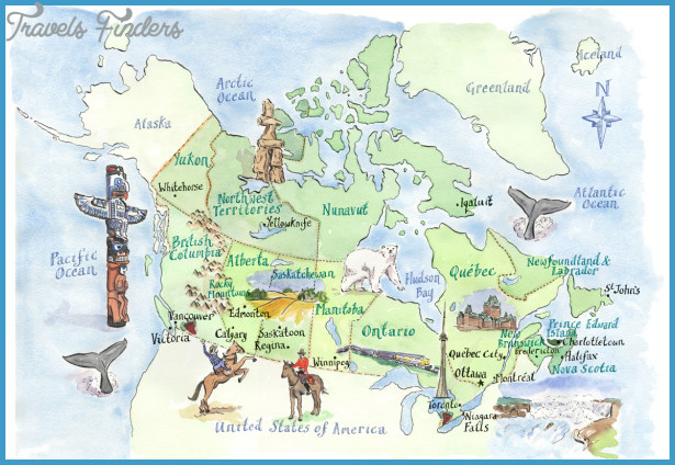 Canada Map Tourist Attractions Travelsfinders Com