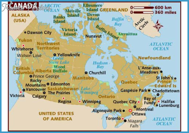 Canada map tourist attractions travelsfinders com for Canadian cities to visit