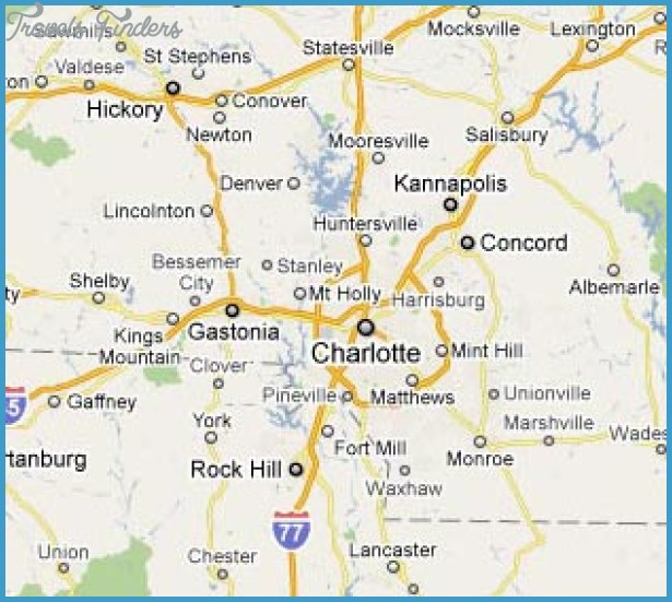 Charlotte Metro Map  Travel  Map  Vacations