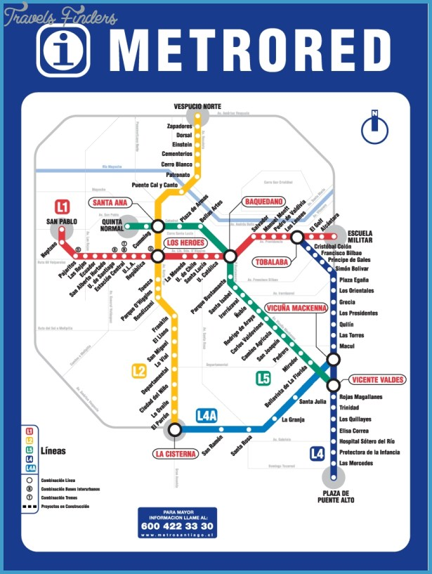 Chile Subway Map.Chile Subway Map Travelsfinders Com