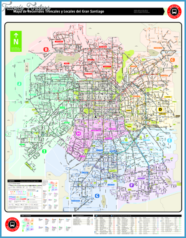 Subway Map In Chile.Chile Subway Map Travelsfinders Com