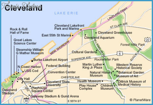 Cleveland Map Tourist Attractions – Cleveland Tourist Attractions Map