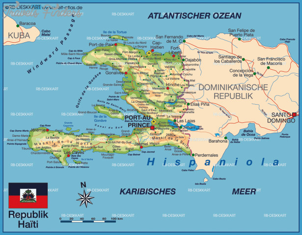 Haiti Map Travel Map Vacations TravelsFindersCom - Physical map of haiti