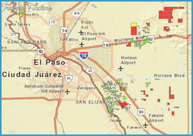 El Paso Map TravelsFindersCom