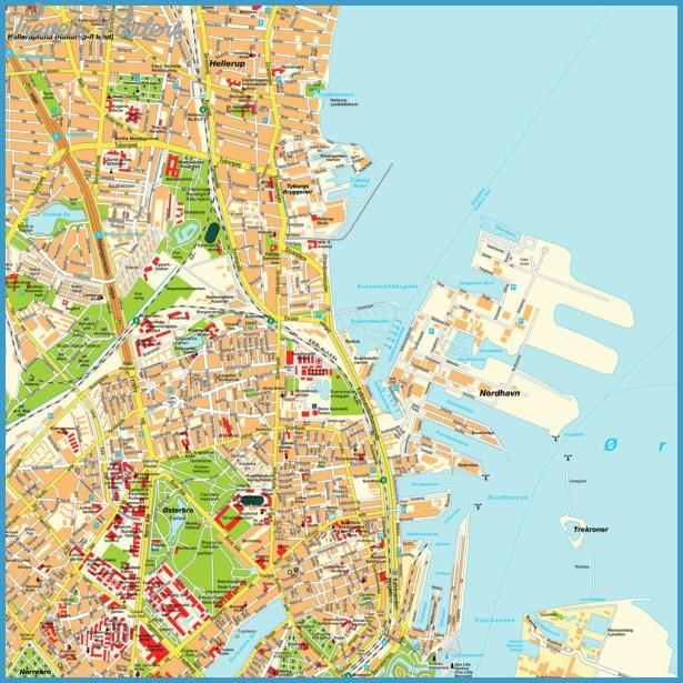 Stadtplan Kopenhagen, Dänemark. Karte und Routenplaner von hot-maps.