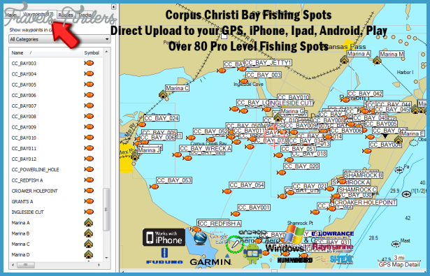 Corpus christi map tourist attractions travelsfinders com for Best fishing spots in corpus christi