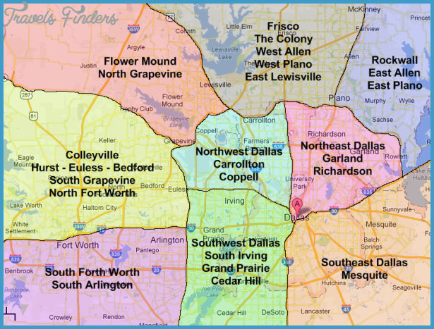 Dallas Map TravelsFindersCom