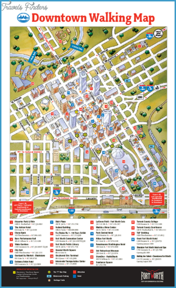 {DallasFort Worth Map Tourist Attractions – Fort Worth Tourist Attractions Map
