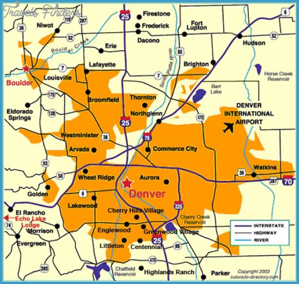Denver Metro Map - TravelsFinders.Com ®
