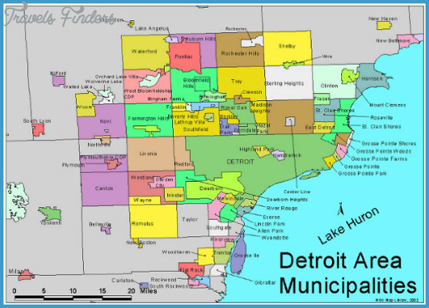 Detroit Metro Map  Travel  Map  Vacations