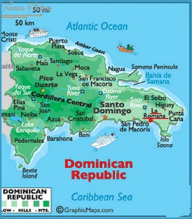Dominican Republic Map Tourist Attractions TravelsFindersCom