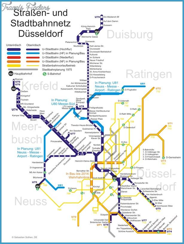 EssenDsseldorf Subway Map TravelsFindersCom