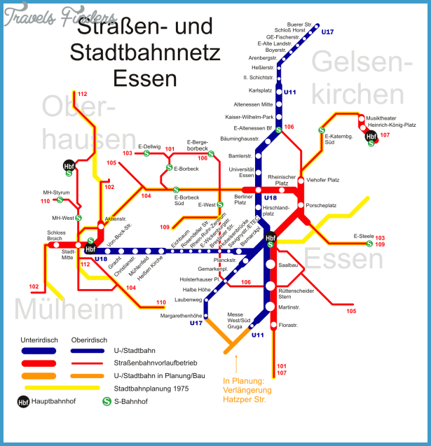 EssenDüsseldorf Map Travel Map Vacations TravelsFindersCom - Dusseldorf metro map