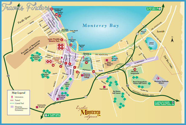 Monterey Map   TravelsFinders.®