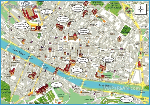 ... Baptistery - Florence top tourist attractions map - High resolution