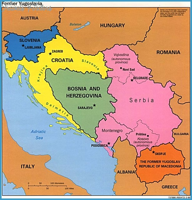 Serbia Map TravelsFindersCom