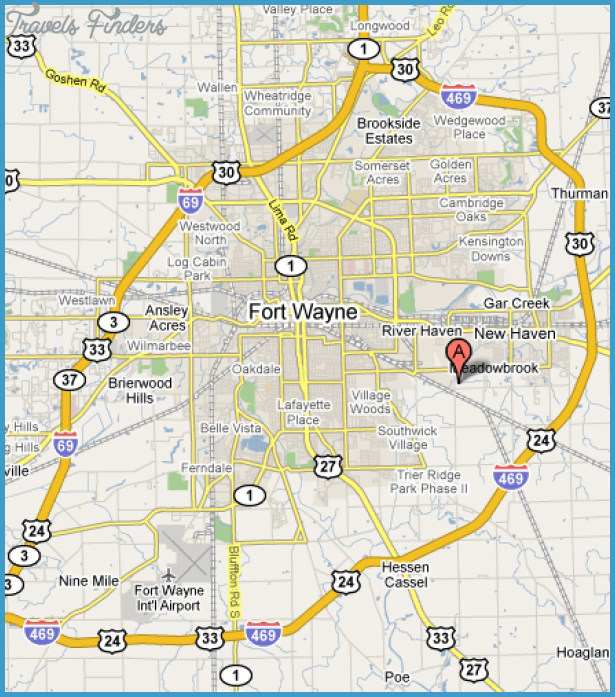 Fort Wayne Map TravelsFindersCom