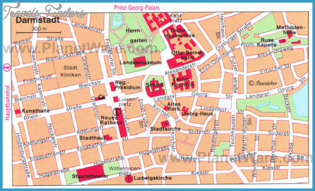 Frankfurt Map Tourist Attractions  Travel  Map