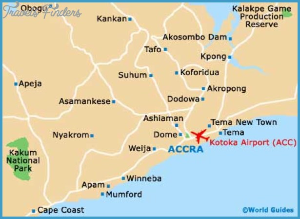 Accra Map Tourist Attractions TravelsFindersCom