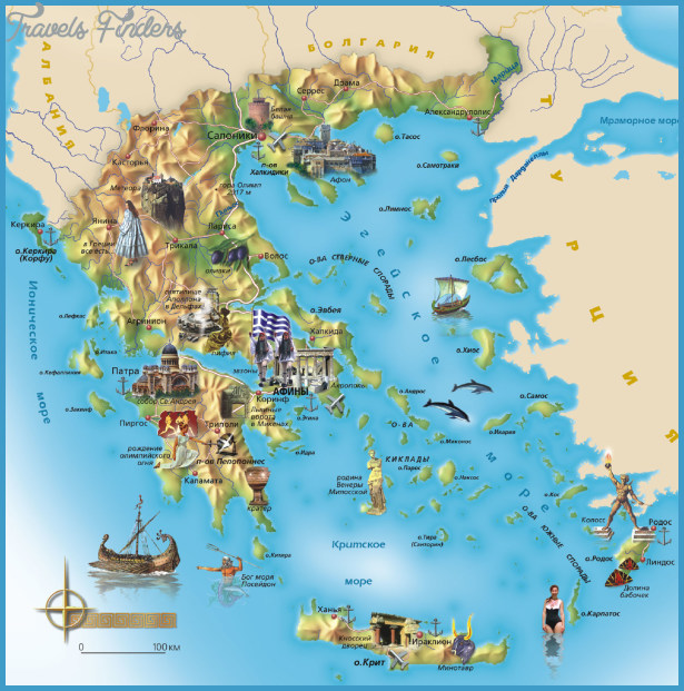 {Greece Map Tourist Attractions – Greece Tourist Attractions Map
