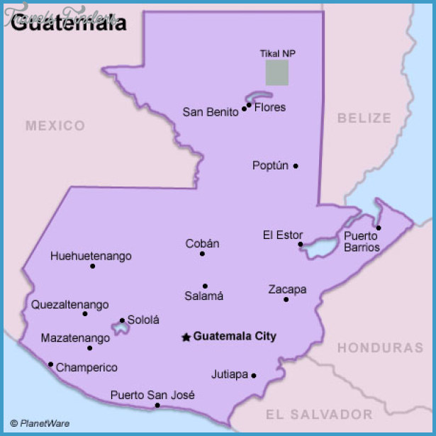 Guatemala Map Tourist Attractions – Tourist Attractions Map In Guatemala