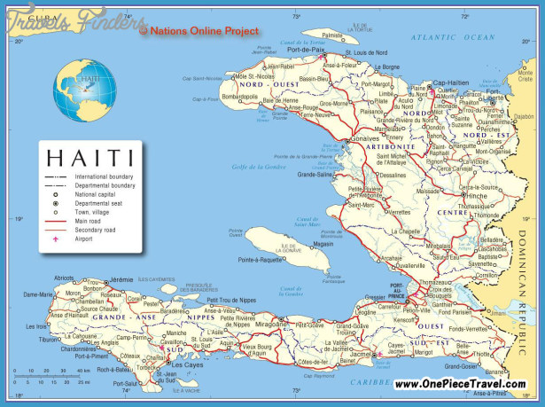 Haiti Map Tourist Attractions TravelsFindersCom